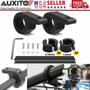 2x 1 inch Bull Bar Mount Bracket Tube Clamps For Led Work Light Bar Offroad 4x4