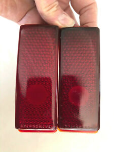 1941 Ford Glass Tail Light Lenses 2 Duolamp 11a Stimsonite