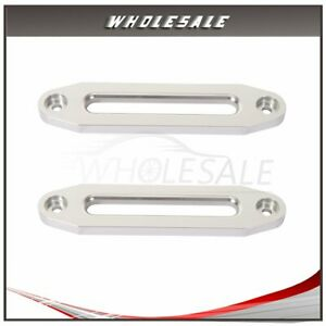 2x For 8000lbs 15000lbs Synthetic Winch 10 Aluminum Hawse Fairlead