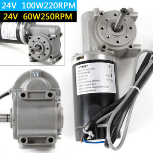24v Automatic Door Dc Worm Right Angle Electric Gear Motor W encoder Brushed Usa