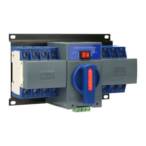 63a 4p 110v Dual Power Automatic Transfer Switch Generator Changeover Indicator