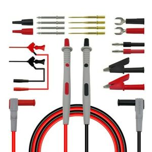 Kit Multimeter Test Lead Kit Test Probe Plug Set Electrical Fast 4mm Banana Plug