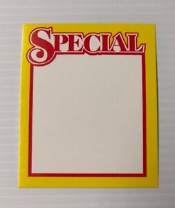 Retail Store Special Price Cards Display Case shelf Signs Tags 50 Lot
