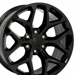 22 Gloss Black 2015 Ck156 Gmc Wheel Denali Chevy Silverado Tahoe Escalade Rim
