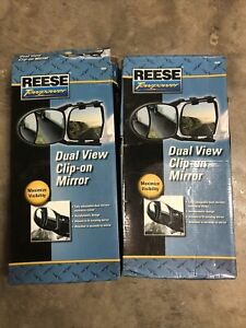 Reese Towpower Clip On Towing Mirror Set Of 2 New