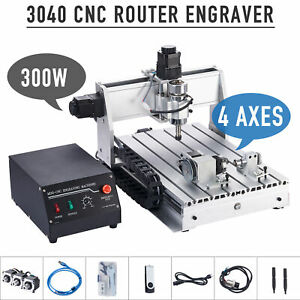 Preenex Wood Engraving Milling Cutting Carving Machine Cnc Router W Rotary Axis