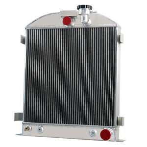 3 Row Radiator For 1932 1936 1935 1933 Ford Grill Shells 3 Chopped Chevy V8 302