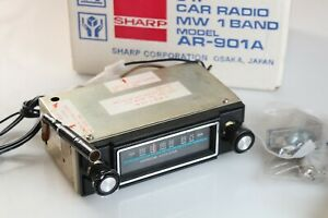 Vintage Car Radio Sharp Ar 901a New Old Stock Nos Very Rare Made In Japan 1970s