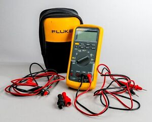 Fluke 87v True Rms Multimeter With Pouch And Cables