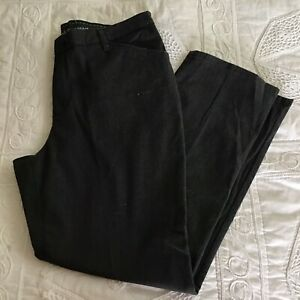 Lee All Day Charcoal Black Chino Pant Straight Leg Relaxed Fit Sz 14 Short $20.00
