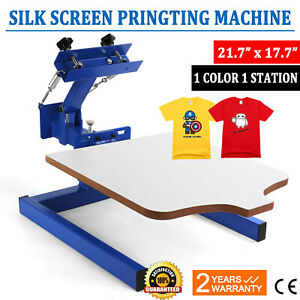 1 Color 1 Station Silk Screen Printing Machine Press Equipment T shirt Pressing
