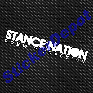 Stance Nation Decal Size 7 5in X 1 2in Premium Cast Quality Vinyl