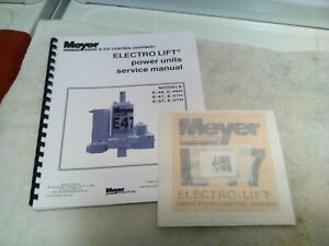 Meyer Snow Plow Pump Service Manual E 47 46 57 And H Models Comb Bound Sticker