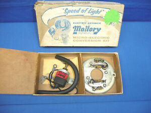 Vintage Nos Mallory Dual Point Mico electric Conversion Kit 1959 69 Ford V8 Ct31