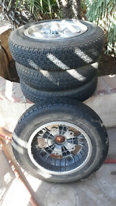 4 Vw Empi 15 Inch 2 Piece Original Rims 5 Lug Oval Split