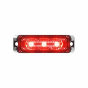 Flex 3 Led 9w Red Grille Light Head Strobe Firefighter Pov Emergency Vehicle