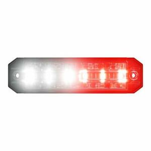 Ultra 6 Led Grill Strobe Warning Red white Light Head Ems Emt Fire Truck Surface