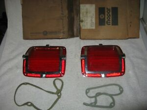 Nos Mopar 1965 Plymouth Belvedere Wagon Tail Light Lenses