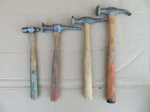 Lot Of 4 Vintage Proto Auto Body Hammers Proto 1428 1304 2 Unbranded