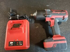 Snap On Ct8850 18v 1 2 Drive Cordless Impact Wrench W Ctb8185 4ah Battery
