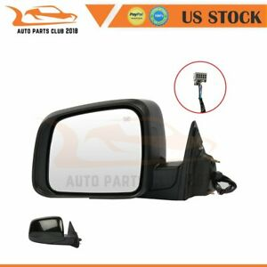 For 2011 2018 Jeep Grand Cherokee Manual Fold Power Black Heated Lh Side Mirror