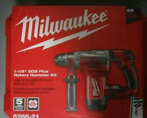 Milwaukee 1 1 8 Corded Sds Plus Rotary Hammer Kit 5268 21 Brand New