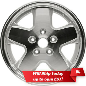 New 16 Machined Silver Alloy Wheel Rim For 2002 2007 Jeep Liberty No Dimples