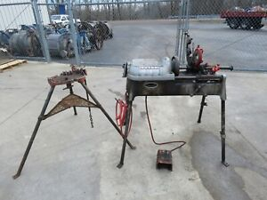 Ridgid Pipe Threader 535 W Tri Stand 150 Used
