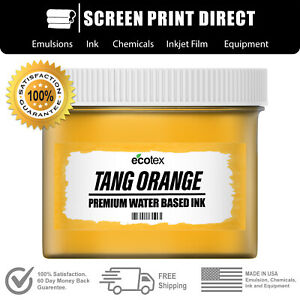 Ecotex Fluorescent Tang Orange Water Based Ready To Use Discharge Ink Quart