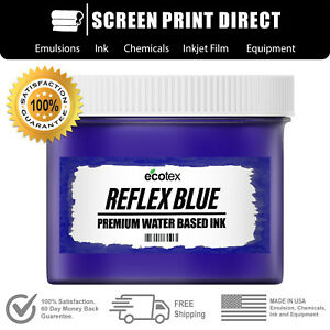 Ecotex Reflex Blue Water Based Ready To Use Discharge Ink 8oz