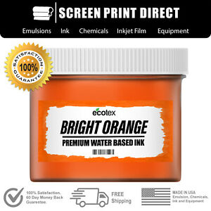 Ecotex Fluorescent Bright Orange Water Based Ready To Use Discharge Ink 8oz