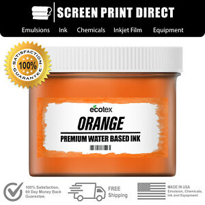 Ecotex Orange Water Based Ready To Use Discharge Ink Screen Printing 5 Gal