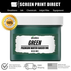 Ecotex Green Water Based Ready To Use Discharge Ink 8oz