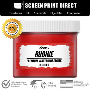 Ecotex Rubine Red Water Based Ready To Use Discharge Ink 8oz
