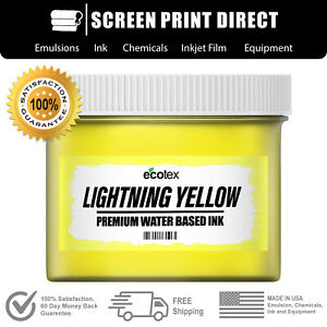 Ecotex Fluorescent Lightning Yellow Water Based Ready To Use Discharge Ink 8oz