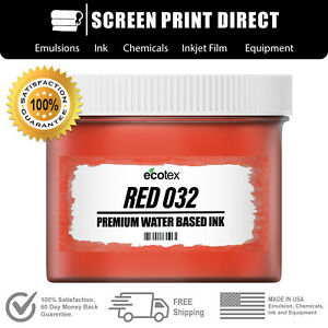 Ecotex Red 032 Water Based Ready To Use Discharge Ink 8oz