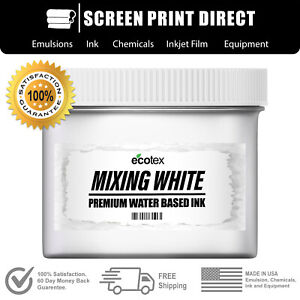 Ecotex Mixing White Water Based Ready To Use Discharge Ink 8oz