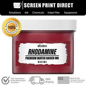 Ecotex Rhodamine Red Water Based Ready To Use Discharge Ink 8oz