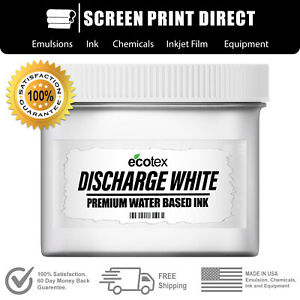 Ecotex Discharge White Water Based Ink For Screen Printing 8oz