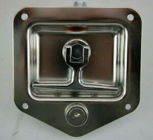 Buyers T handle Stainless Steel Latch With Keys L8815