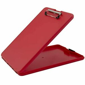 Saunders Slimmate Letter Size Storage Clipboard Polypropylene Red With Office