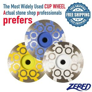 Zered 4 Diamond Grinding Cup Wheel For Granite Quartz Concrete