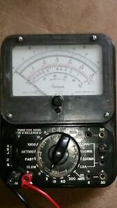 Bach Simpson Ts 111 Series 3 Vintage Railroad Tester Analog Multimeter Equipment
