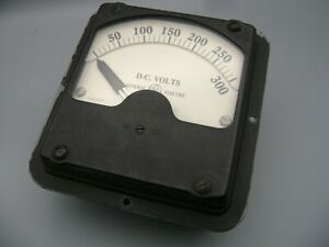 Vintage General Electric D c Volts Meter 0 300 Type Dd 7 Model 8dd7vas36