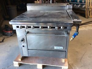 U s Range C836 10 Hot Tops Natural Gas Range With Oven