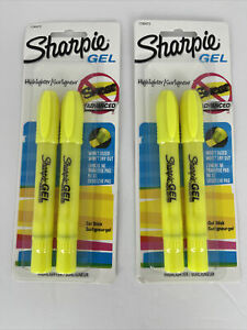 Sharpie Gel Highlighter Fluorescent Yellow Bullet 2 2packs