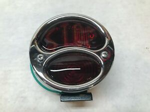 Vintage Syle Reproduction Nos Red Glass Stop Light Hot Rod Indian Harley