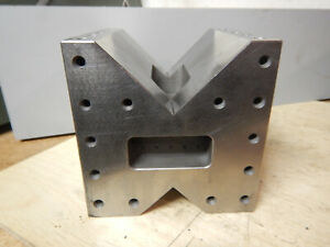 Large V Block From Precision Grinding Shop Machinist Jig Fixture Tooling Lot B