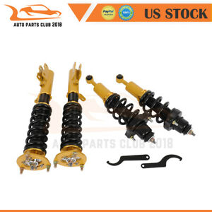 Coilovers Struts Adj Height Suspension Springs Kits For 08 16 Mitsubishi Lancer