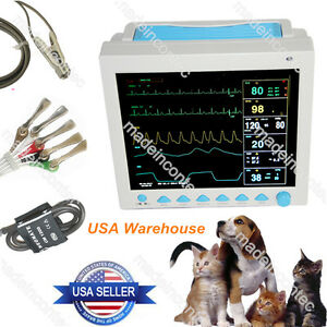 Veterinary Patient Monitor Vital Signs Vet Monitor spo2 pr ecg nibp resp temp Us